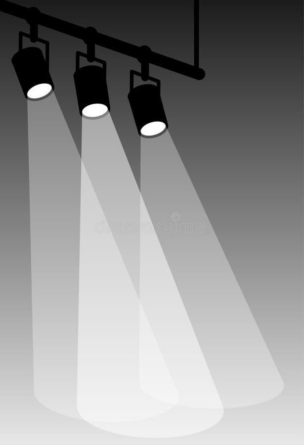 Stufe Leuchte-Weiß stock abbildung