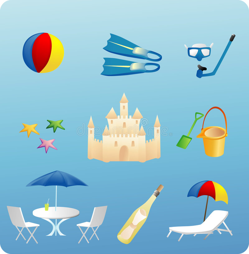 Free Stuff On The Beach Royalty Free Stock Photography - 3134617