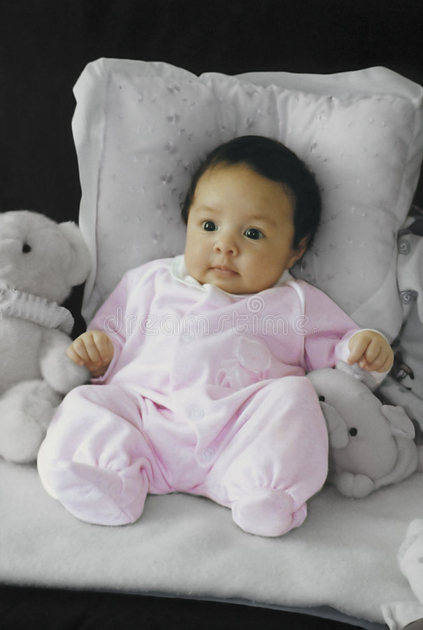 Stuffed baby stock photo