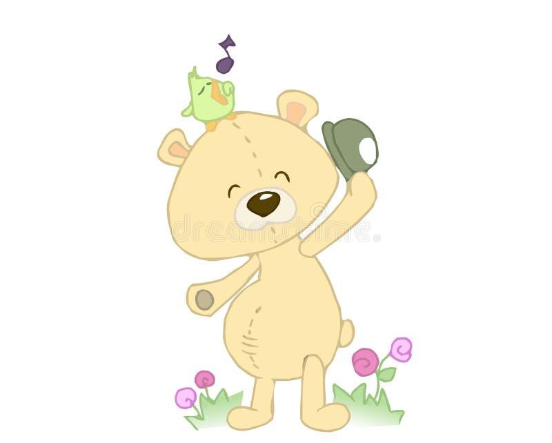 Download Stuffed bear stock illustration. Image of illustration - 7576339