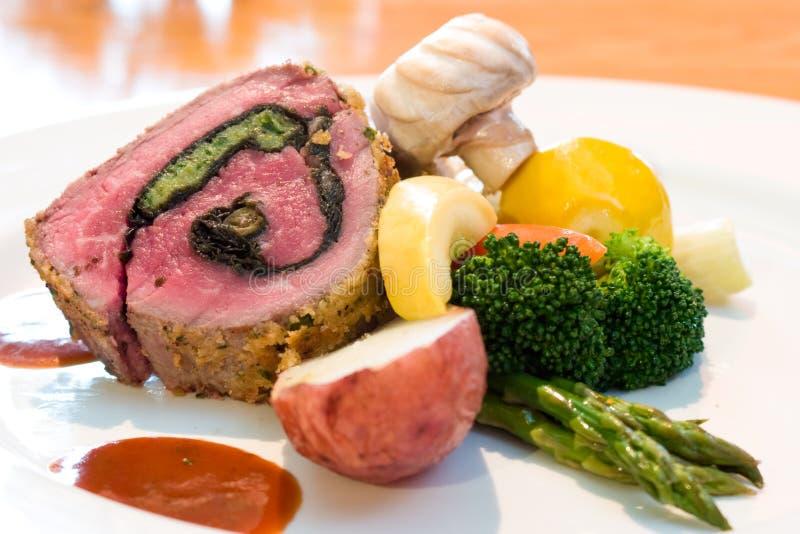 Download Stuffed Beef Steaks stock photo. Image of food, lime, mushrooms - 4033222