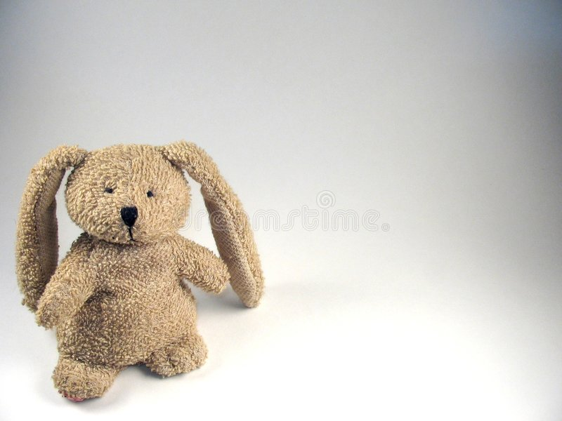Stuffed Bunny On White royalty free stock photography