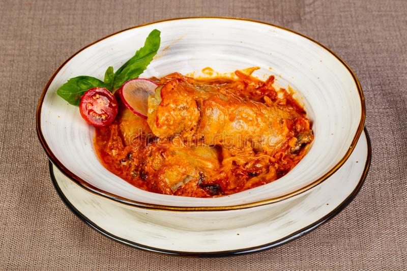 Stuffed cabbage with meat royalty free stock images