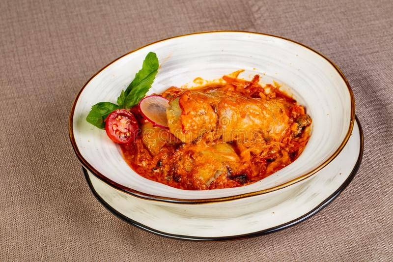 Stuffed cabbage with meat stock photography