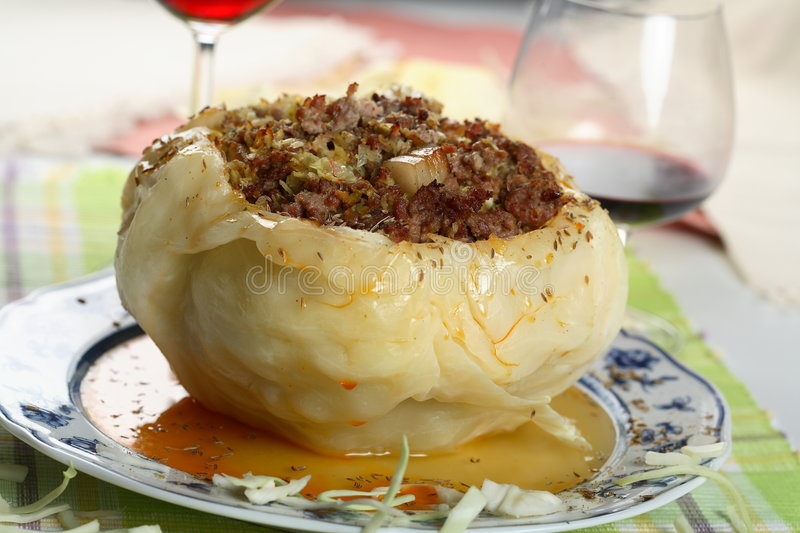 Stuffed cabbage with mince royalty free stock image