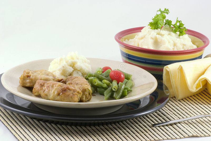 Download Stuffed Cabbage And Potatoes Stock Image - Image: 1731167