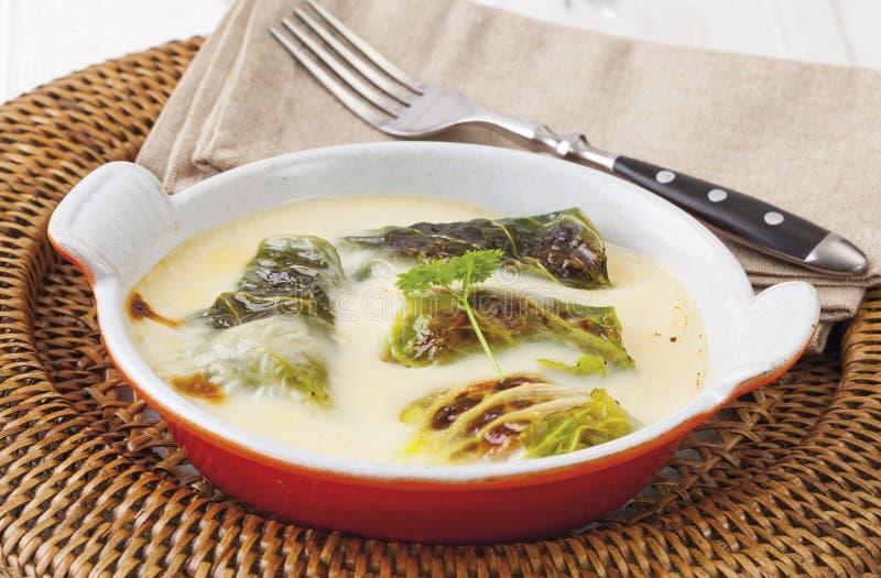 Stuffed cabbage rolls stock image