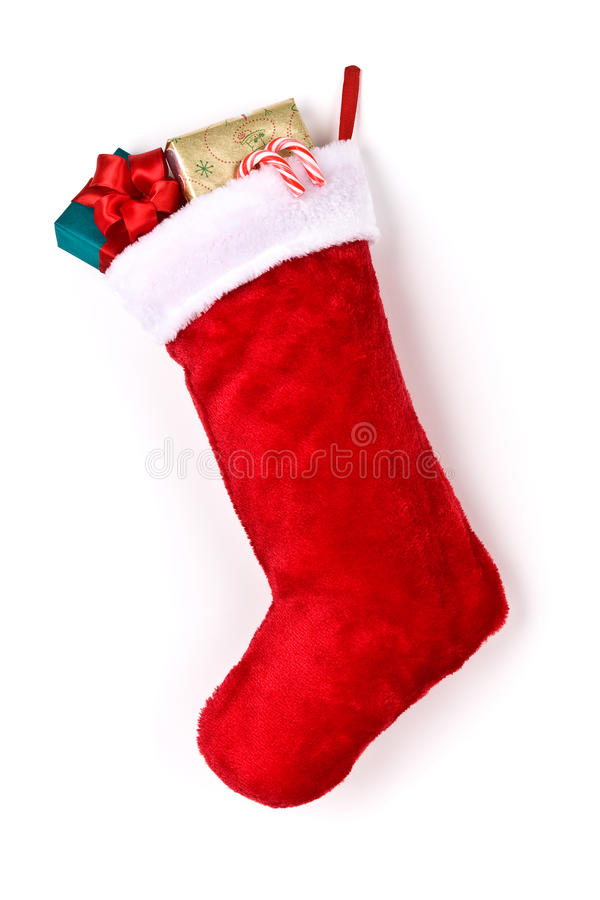 Stuffed Christmas Stocking Royalty Free Stock Photo