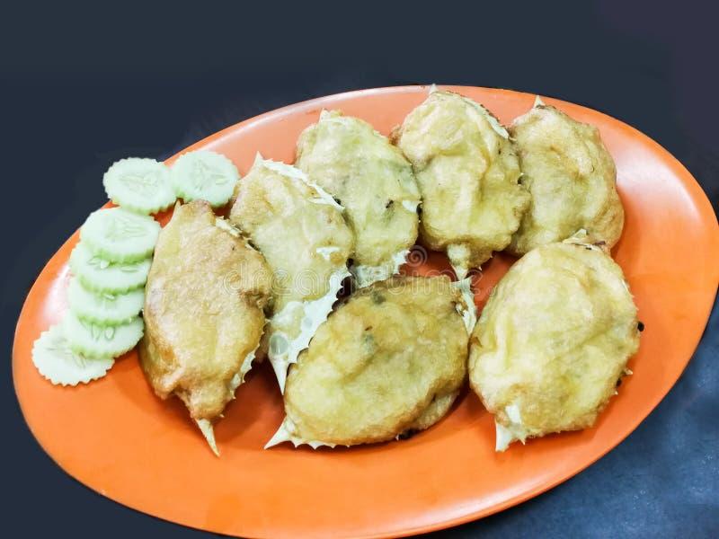 Stuffed crab, popular Chinese food in Kemaman Malaysia. Stuffed crab shell with crab meat popular Chinese food in Kemaman, Malaysia stock photo
