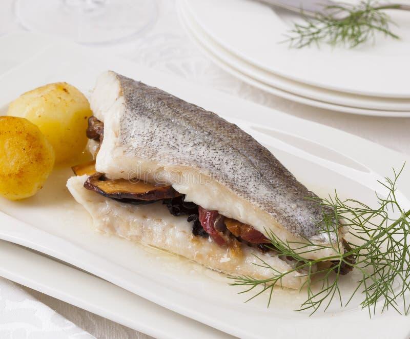 Stuffed fish fillet royalty free stock photos