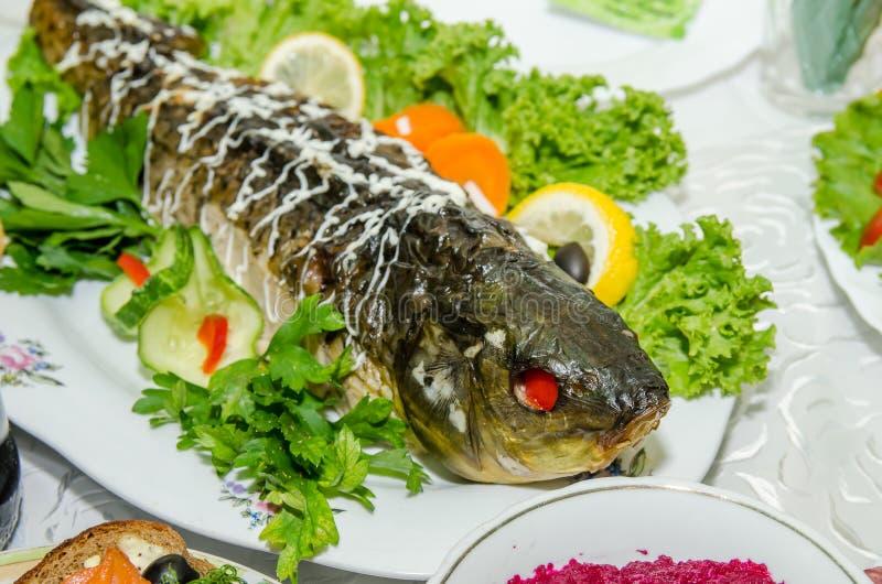 Stuffed fish stock photo