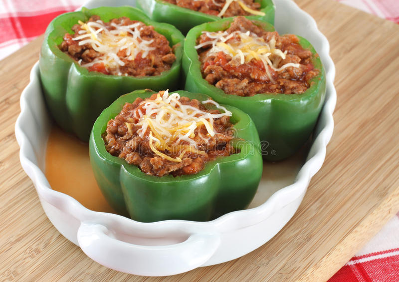Download Stuffed Green Peppers stock photo. Image of cutting, healthy - 19831338