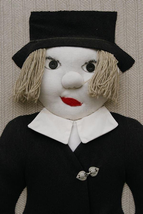 Stuffed male doll stock photography