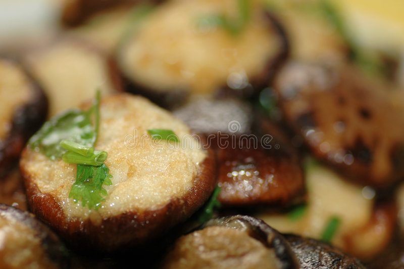 Stuffed Mushroom Royalty Free Stock Images