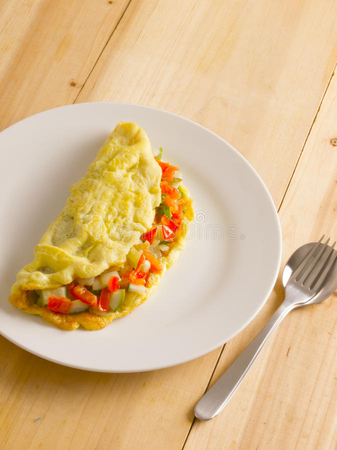 Download Stuffed omelette stock image. Image of brunch, tomatoes - 25913039
