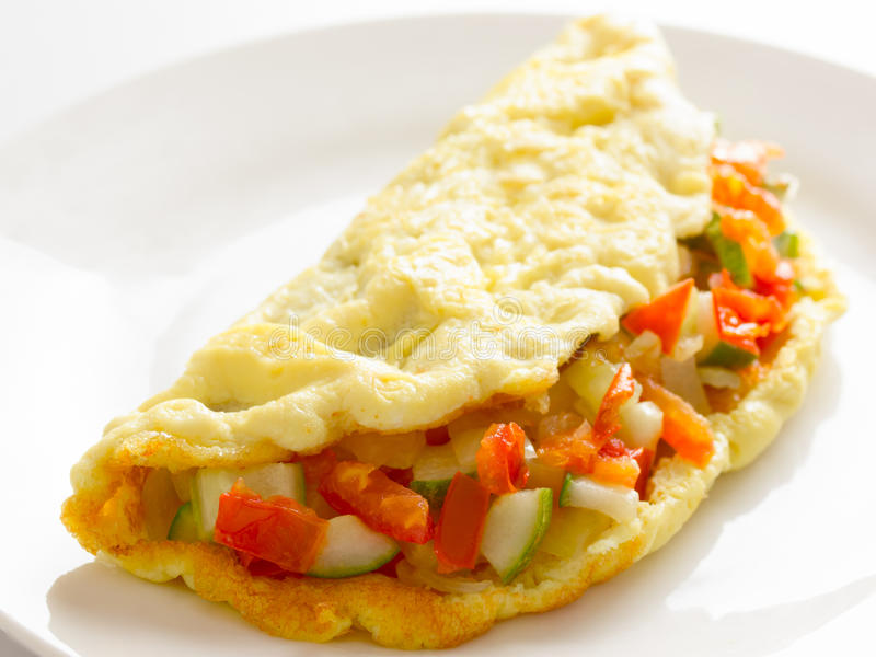 Stuffed omelette stock photography
