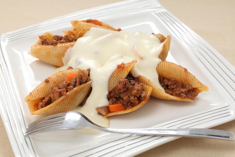 Download Stuffed Pasta Shells Plate Royalty Free Stock Photos - Image: 25383418