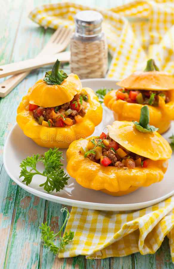 Download Stuffed Pattypan Squash Stock Photography - Image: 26269922