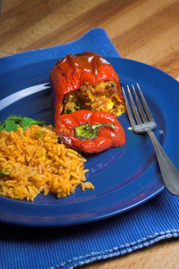 Stuffed pepper stock image