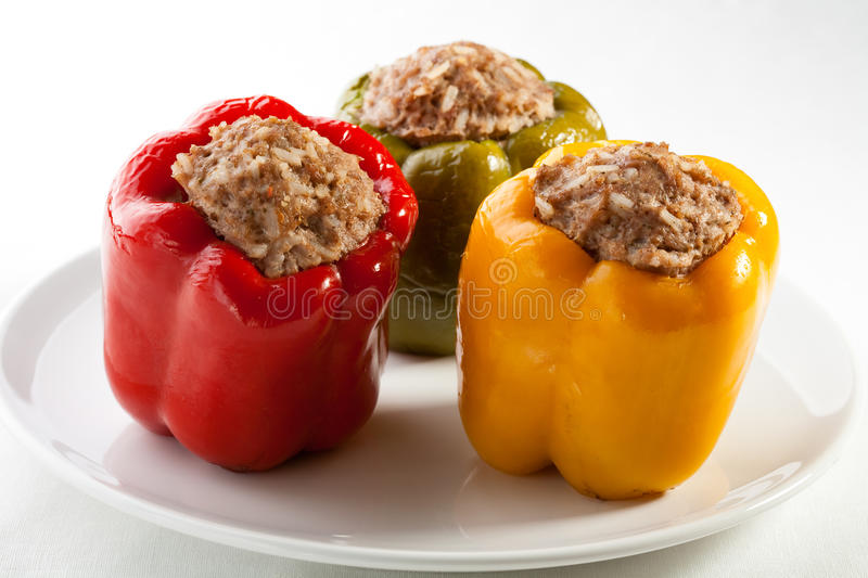 Stuffed pepper with meat royalty free stock images