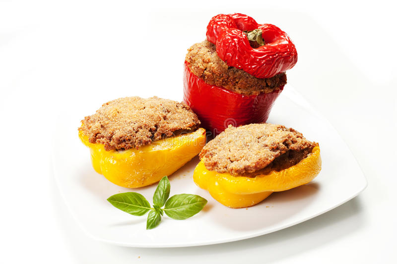 Download Stuffed peppers stock image. Image of health, nourishment - 33156611