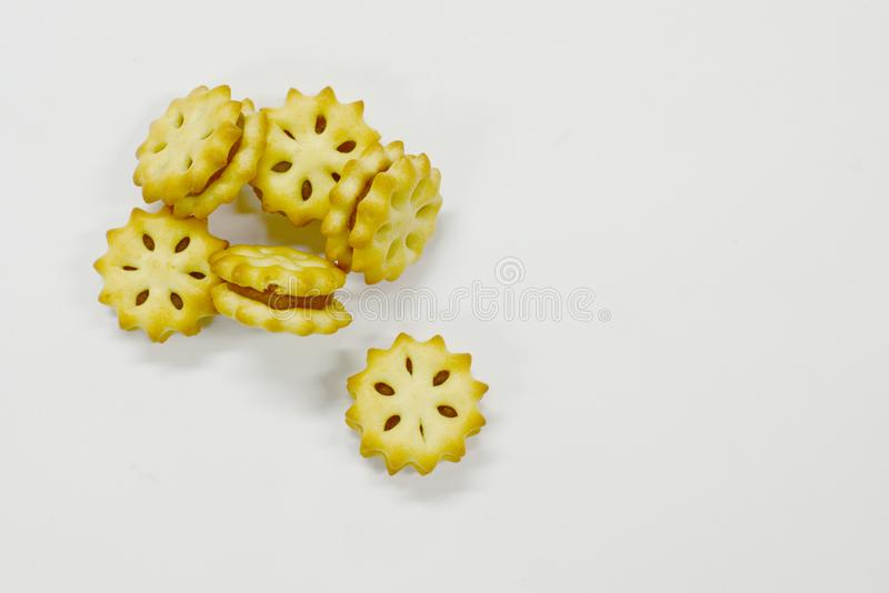 Stuffed with pineapple on a white background stock photo