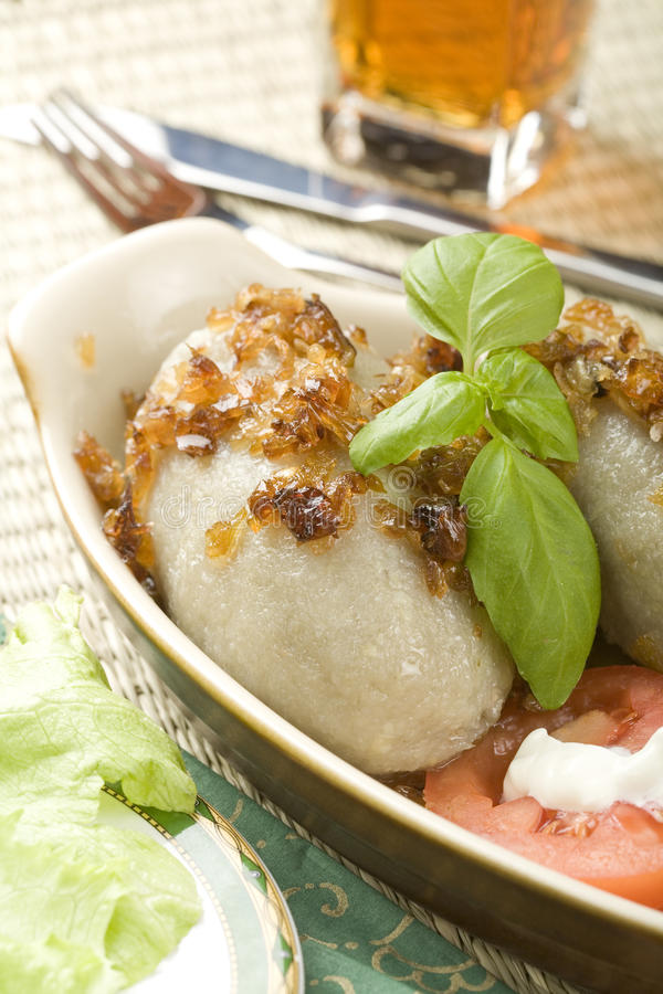 Stuffed potato stock photo