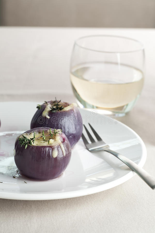 Stuffed Red Onions royalty free stock photo