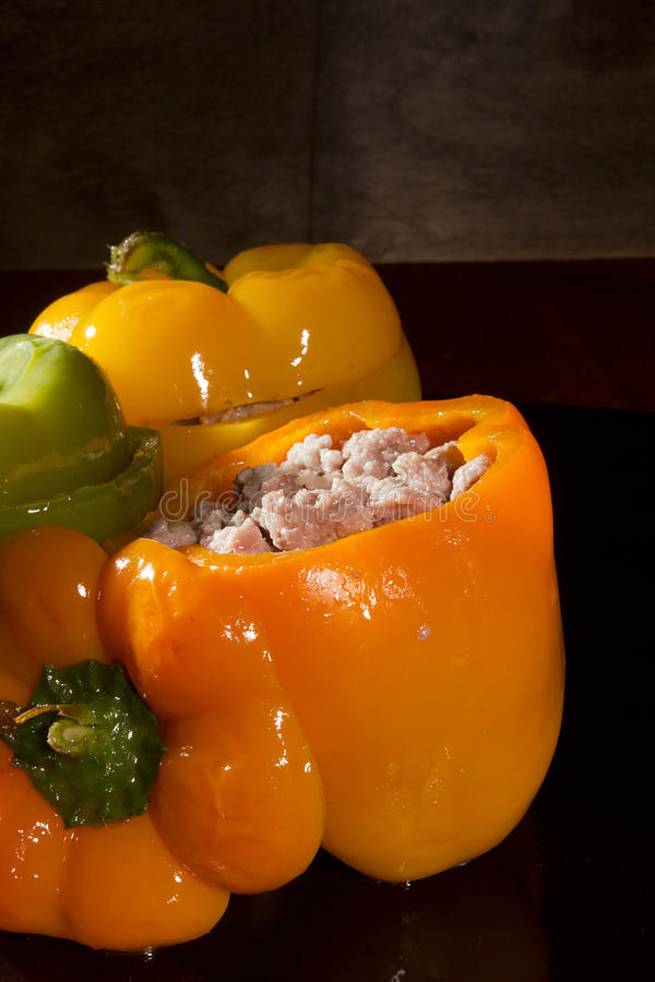 Stuffed Sweet Peppers royalty free stock photography