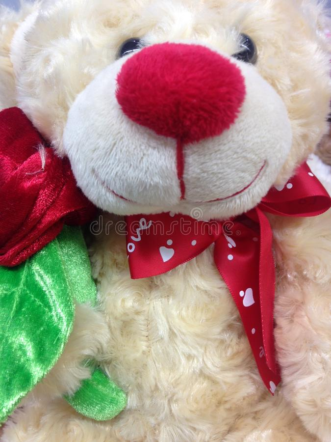 A Stuffed Toy Bear. A Stuffed Toy White Bear royalty free stock photography