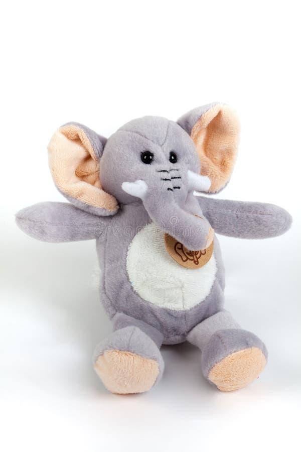 Stuffed toy elephant stock photo