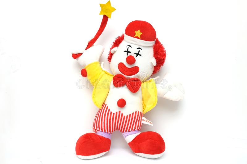 A stuffed toy of Uncle Ringo clown stock photo