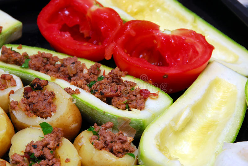 Stuffed vegetables royalty free stock photography