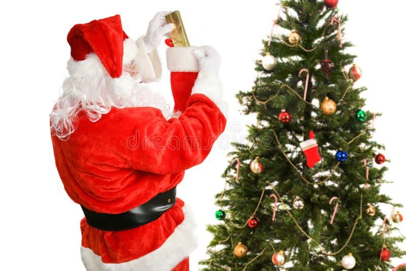 Stuffers чулка от Santa Claus стоковое фото rf