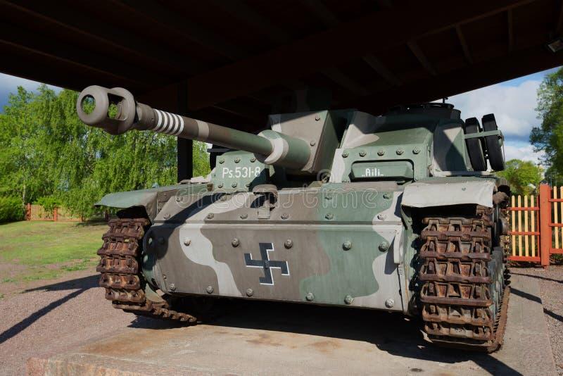 Stug III Ausf G picosegundo 531-8 - Artilharia automotora alemão durante a segunda guerra mundial, close up imagem de stock royalty free