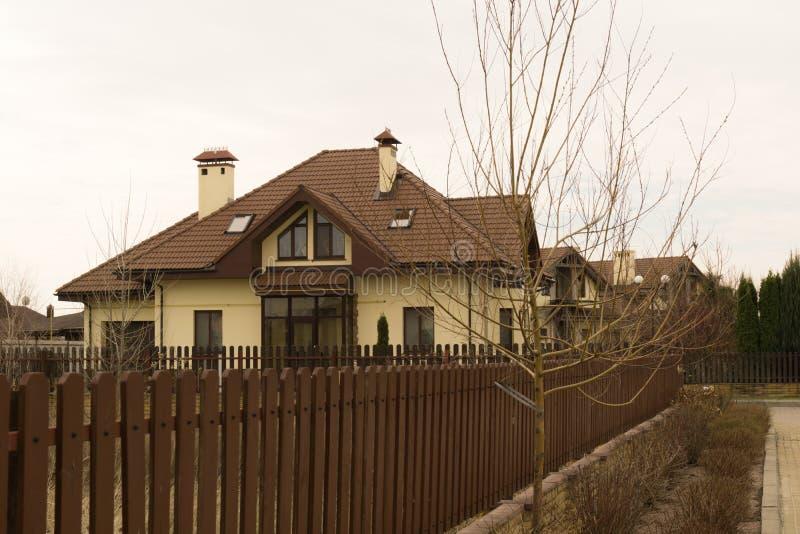 Stuga i den Severinovka Ukraina Kiev regionen royaltyfria bilder