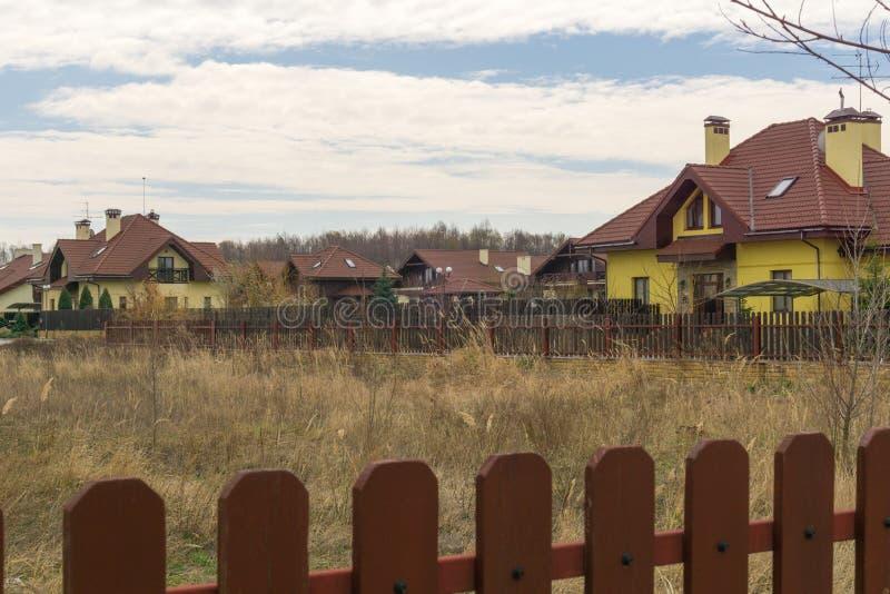 Stuga i den Severinovka Ukraina Kiev regionen royaltyfri bild