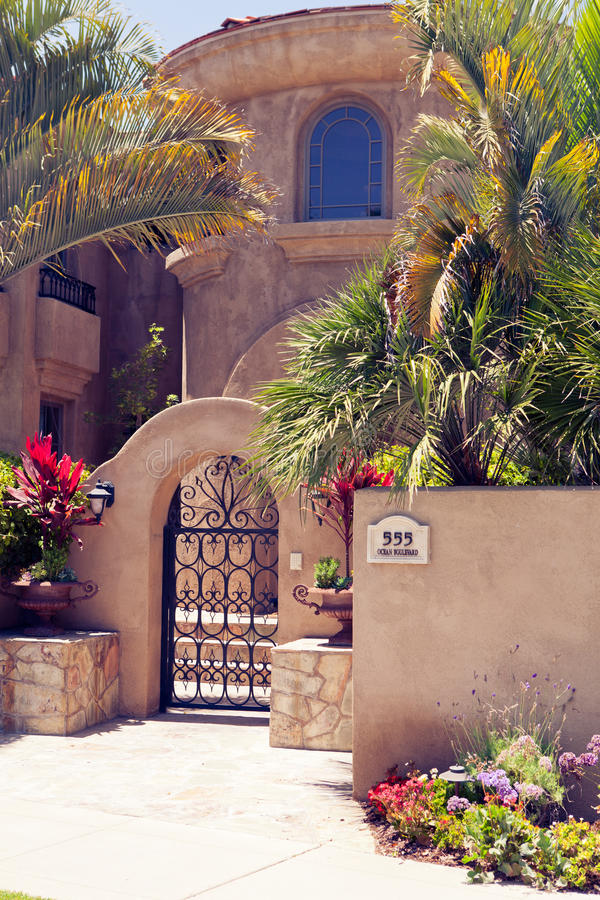 Stugahus - Coronado, San Diego USA royaltyfria foton