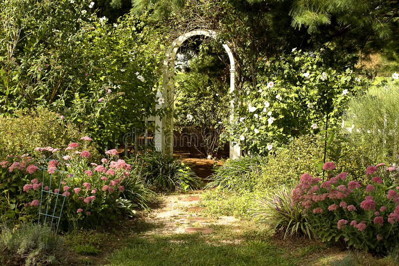 stugaträdgård royaltyfria foton