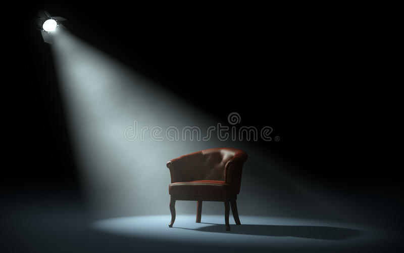 Stuhl auf Stadium stock abbildung