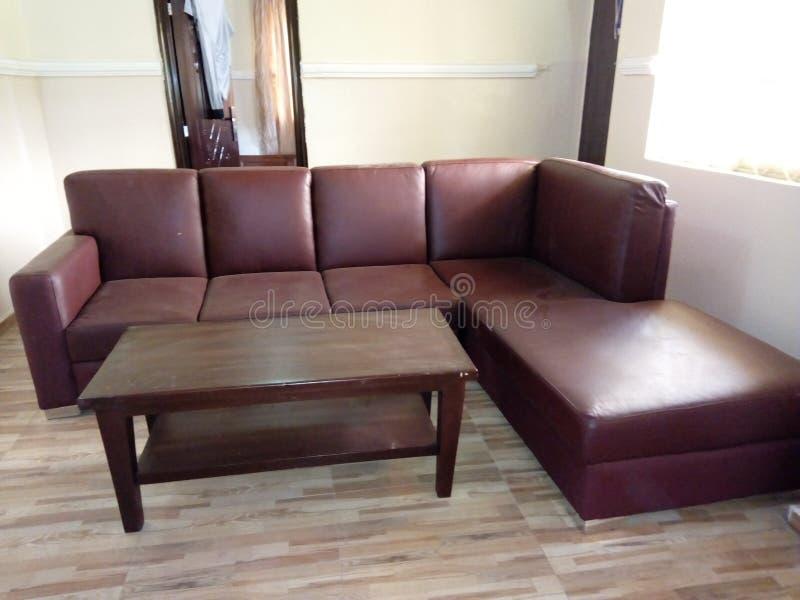 Stuhl-Brown-Sofa stockbild