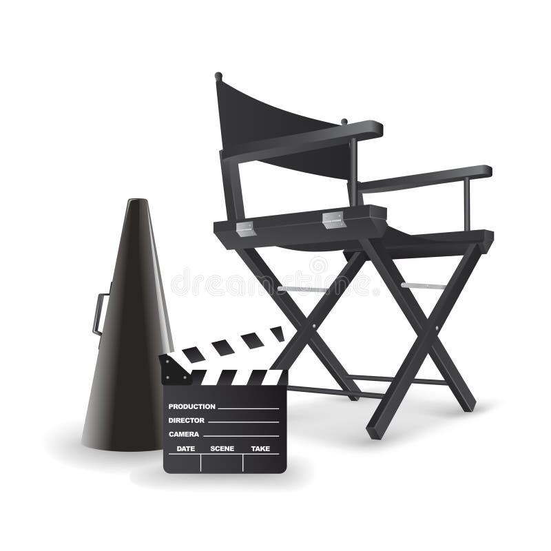 Stuhl des Direktors. lizenzfreie abbildung