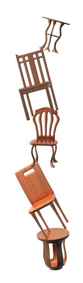Stuhl Fashion_Raster lizenzfreie abbildung