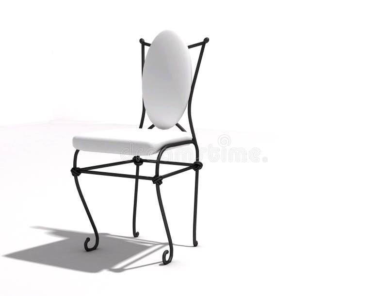 Stuhl geschmiedet lizenzfreies stockfoto