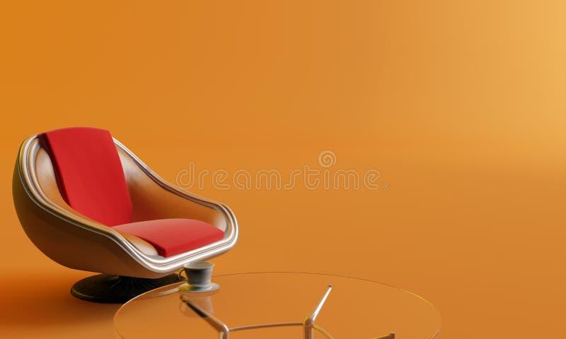 Stuhl, Kaffeetisch und Cup vektor abbildung