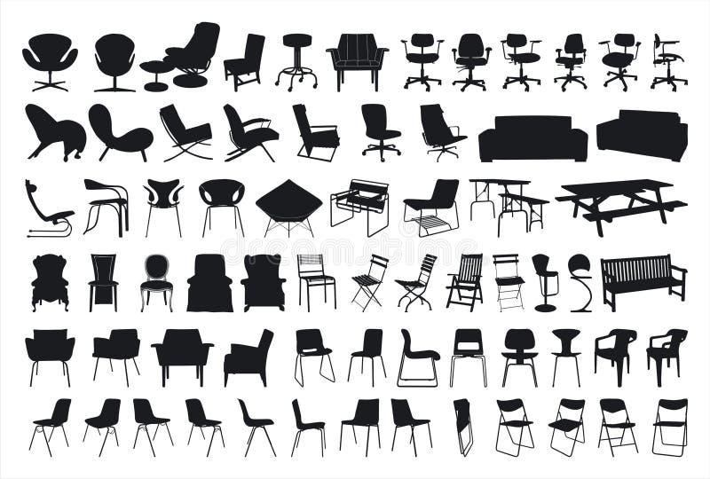 Stuhl-Schattenbild stockfoto