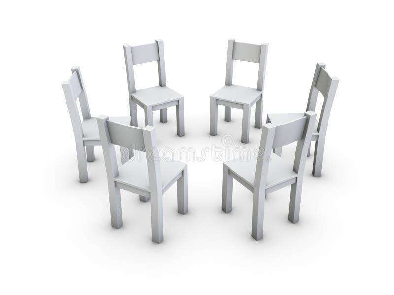 Stuhlkreis lizenzfreie abbildung
