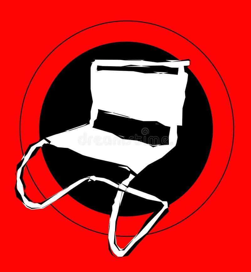 Stuhlzeichen lizenzfreie abbildung