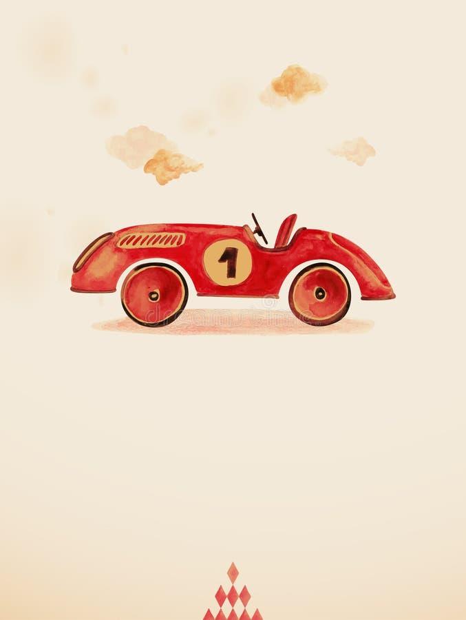 Stuk speelgoed auto. royalty-vrije illustratie