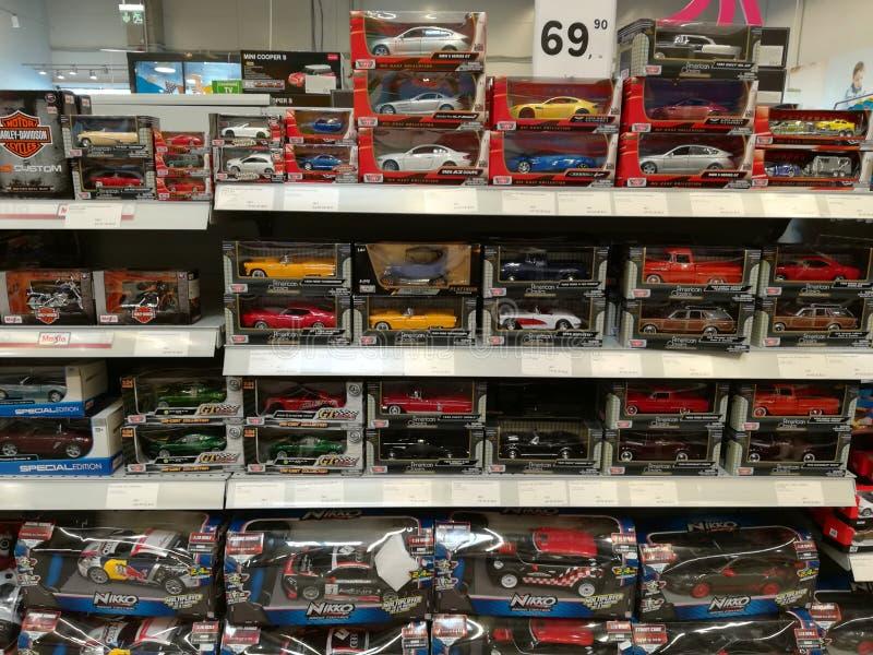 Stuk speelgoed auto's voor kinderen stock afbeelding